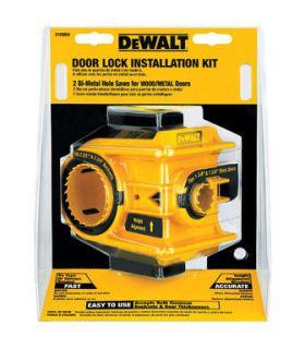 Dewalt Door Lock Installation Kit
