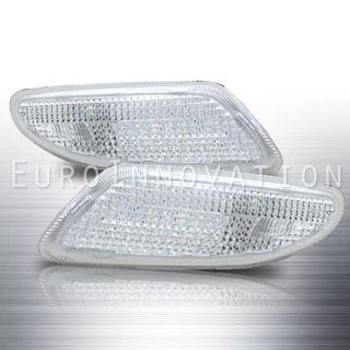 01 07 Mercedes Benz W203 C Class Bumper Lights Signal Lamps Chrome
