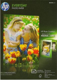 HP Everyday 5 x 7 Glossy Photo Paper 50ct WOW New Item Great Price