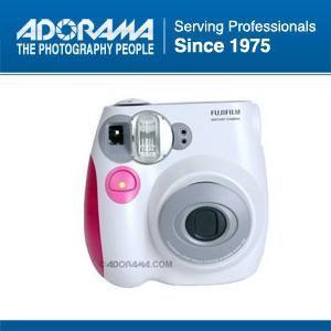 Fujifilm Instax Mini 7S Instant Film Camera White with Pink Trim
