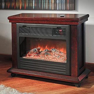 New Big Infrared Electrc Fireplace Heater LED Controls & Remote Heats