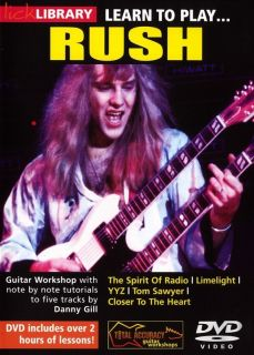 Lick Library Learn to Play Rush Electric Guitar DVD New