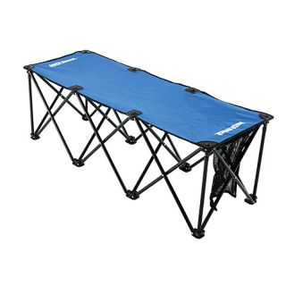 Insta Bench 3 Seater Portable Folding Sports Bench and Carry Bag Royal