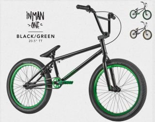 2012 Fit Justin Inman Bike 1 Black Green BMX s M BMX Signature