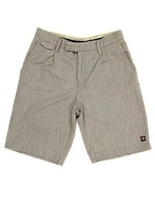 Insight Clothing Mens Sartorial Slub Grey Cotton Summer Shorts Size 36