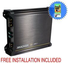Kicker 11DX500.1 Mono 500 Watt RMS Car Amplifier Amp DX500.1 + Free