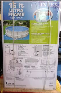 New Intex 54451EG 16 Feet by 48 inch Ultra Frame Metal Frame Pool Set