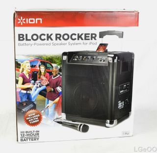 ION Audio IPA16 BLOCK ROCKER AM FM Portable Speaker System iPod iPhone