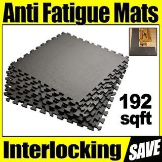 Fatigue Mats 192 sqft Exercise Play Gym Floor Flooring Interlocking