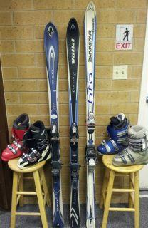 womens ski package intermediate advanced skis bindings boots poles 170