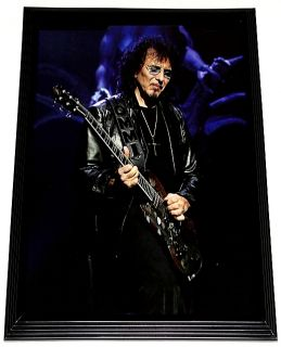 Tony Iommi Black Sabbath Live Gibson SG Framed Portrait