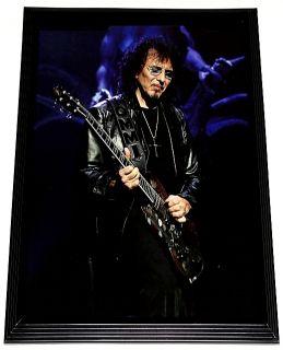 Tony Iommi Black Sabbath Live Gibson SG Framed Portrait