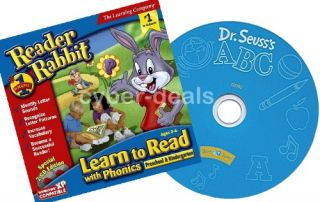 Reader Rabbit Preschool Phonics Dr Seuss ABC Bundle