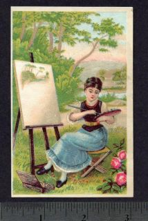 1800s Reclining Invalid Chair Old Victorian Adv Card