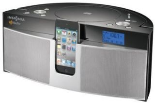 Boombox CD Player with HD Radio iPod iPhone Dock Station Speaker