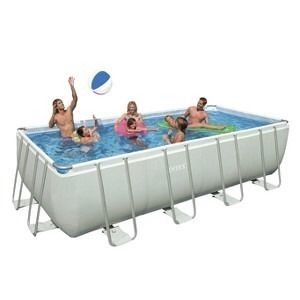 Intex 18x9x52 Rectangular Above Ground Swimming Pool Pack Saltwater