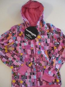 Hoodie Buddie Kids Girls Pink Bubblegum Print s M L XL iPod HP3
