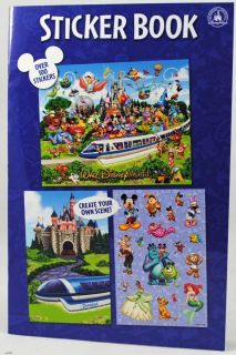 Walt Disney World Storybook Stickerbook Collection Mickey Epcot