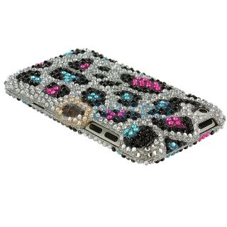 +Colorful Leopard Bling Case Cover Combo For iPod Touch 4th Gen 4G 4