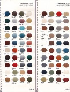 Sherwin Williams Paint Chips 1975 Interior Colors