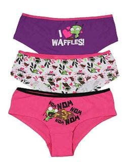 Invader Zim Gir I Love Waffle Hot Pants Panty 3 Pack Cosmetic Case