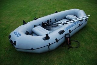 INTEX Seahawk SPORT 400 Inflatable Raft Fun Fishing Boat STILL FACTORY
