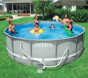 Intex 14x48 Ultra Swimming Pool Steel Frame w/ Cover Ladder Filter