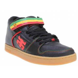 IPATH Grasshopper Skate Shoes Waxed Black Hemp Rasta Mens