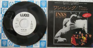 INXS The One Thing 7 Japan White Label Promo Mint