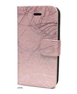 Leather Skin Tri Fold Stand Flip Cover Case iPhone 4 U574B