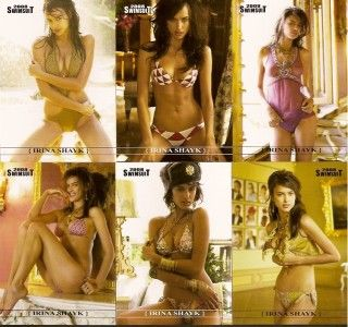 Irina Shayk 6 Card Lot 2008 Sports Illustrated Swimsuit Cards