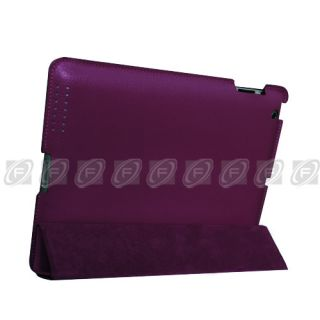 New iPad 2 Fullbody Smart Cover Slim Magnetic PU Leather Case Stand