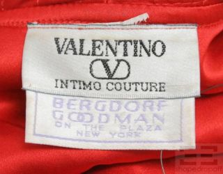 Valentino Intimo Couture Red Long Robe