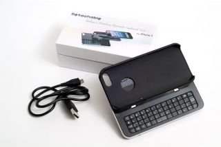 New Black iPhone 5 Wireless Bluetooth Keyboard with Detachable Case