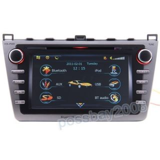 2009 2011 Mazda 6 Car GPS Navigation Bluetooth iPod Radio DVB T TV DVD