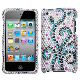 Frosty Flower Diamond Bling Rhinestone Case Cover iPod Touch 4th Gen
