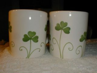 Farval Irish Celtic Shamrock Mugs s 2 St Patricks Day Hand Painted