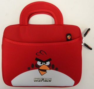 Angry Birds iPad iPad 2 Tablet eBook Reader Soft Shell Red Case Bag