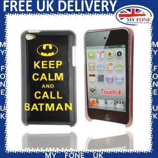 Touch 4 Keep Calm and Call Batman Hard Case Cover for iPod Touch 4 4th