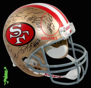 2012 San Francisco 49ers Team Signed F s Football Helmet Randy Moss