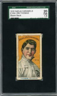 1910 E104 Nadja Ira Thomas World Champions SGC