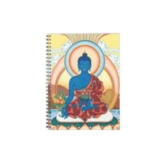 The Medicine Buddha   Master of Healing Spiral Note Book