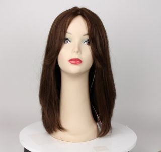 European Human Hair Freeda Wig Isabella Light Brown Multi Directional