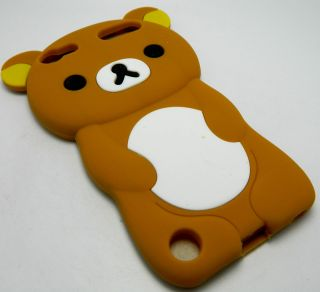 iPod Touch 5th 5 5G Gen Rubber Silicone Skin Cover Case Cookie Brown