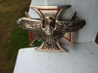 Iron Cross Belt Buckle Harley Davidson Eagle Iron Cross Belt Buckle