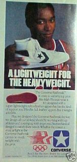 1984 Isiah Thomas Pistons Basketball Converse Shoes Ad