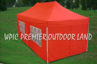 10x20 Pop Up 6 Wall Canopy Party Tent Gazebo EZ Red