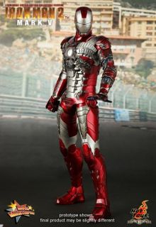 Hot Toys Ironman 2 Mark V 5 Tony Stark 1 6 Head Helmet New