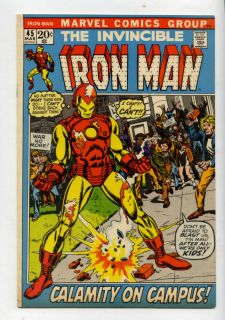 Iron Man 45 Calamity on Campus Classic Cover 46 One Must Die Marvel