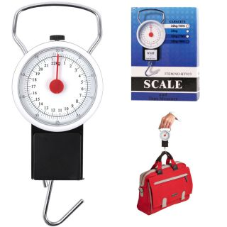 New Portable Hand Luggage Baggage Scale Gauge 50 Lbs